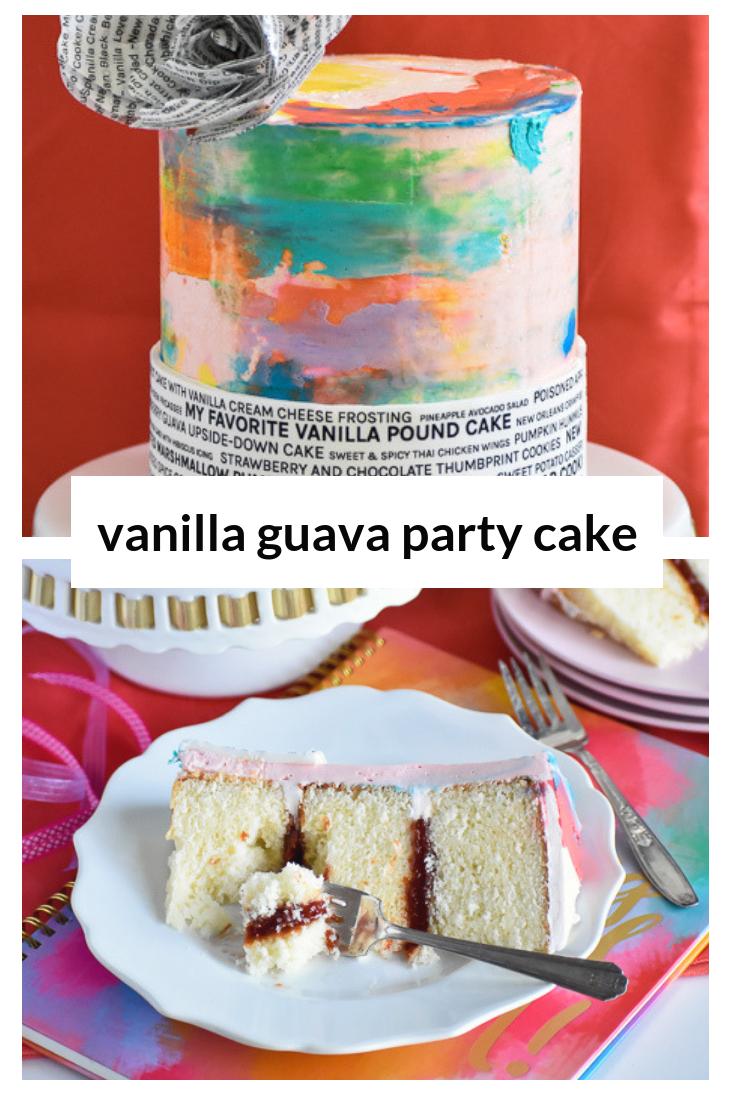 Vanilla Guava Celebration Cake