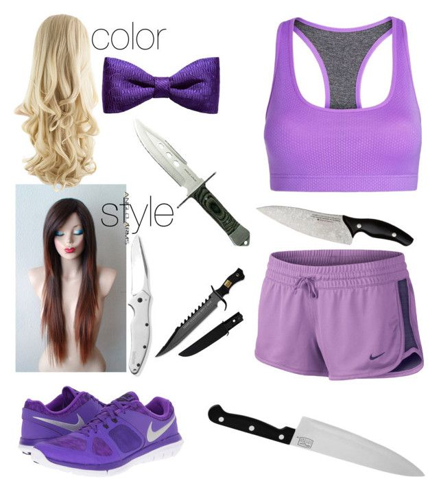 """training #6"" by jarofnerds ❤ liked on Polyvore featuring Lorna Jane, NIKE, ZuZu Kim, Kershaw and Chicago Cutlery"