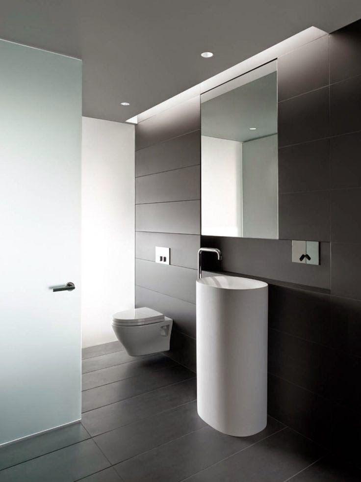 27 baños minimalistas en fotos, cuando menos es más Toilet design