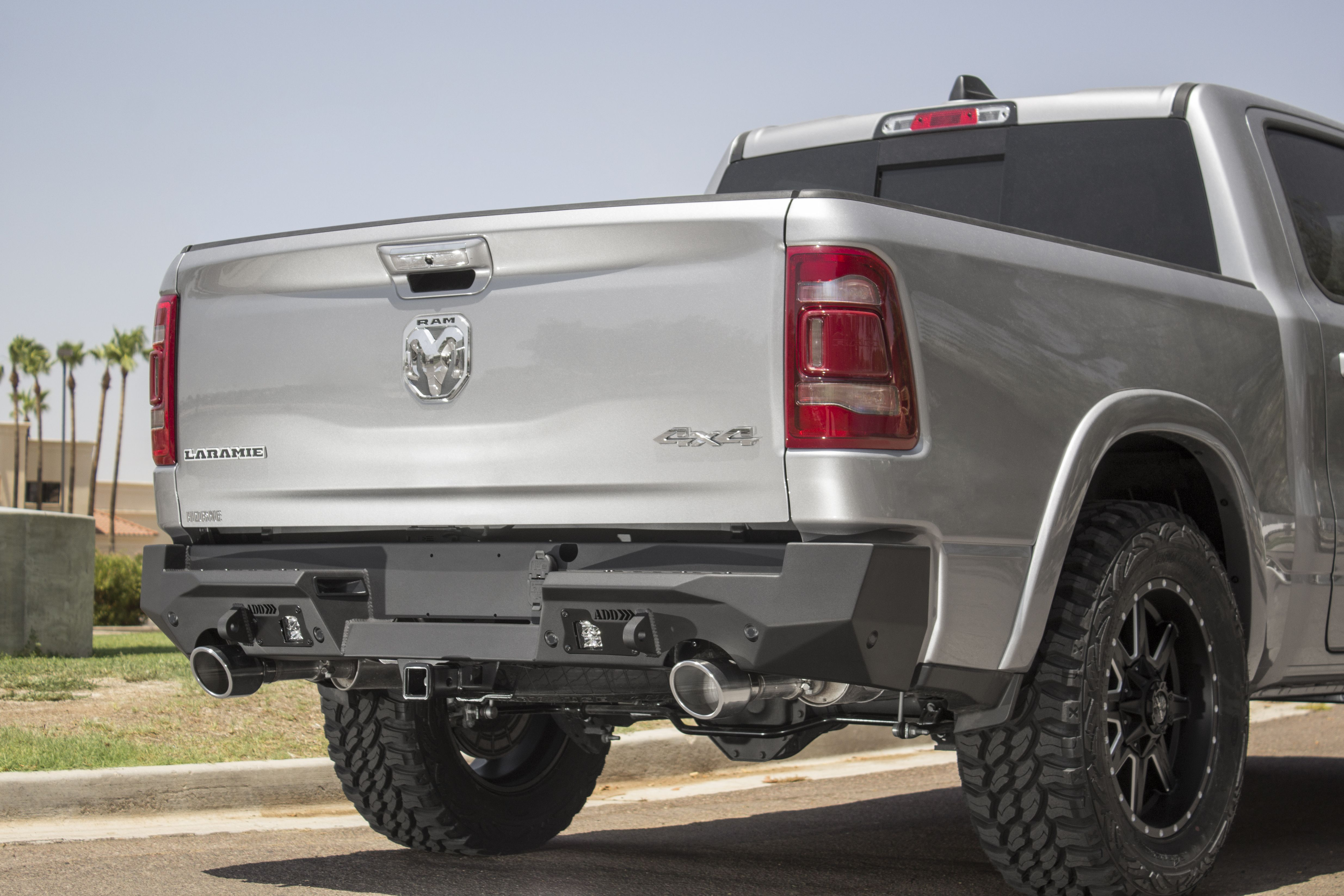 2019 Current Ram 1500 Stealth Fighter Rear Bumper Sleek Design Fits Tight To The Rear Of The Truck Styling Compliments Factor Truck Bumpers Ram 1500 Bumpers