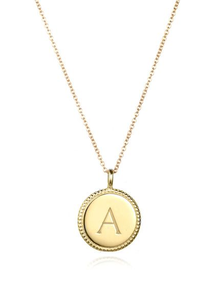 Quot A Quot Initial Pendant Necklace By Amelia Rose Design On