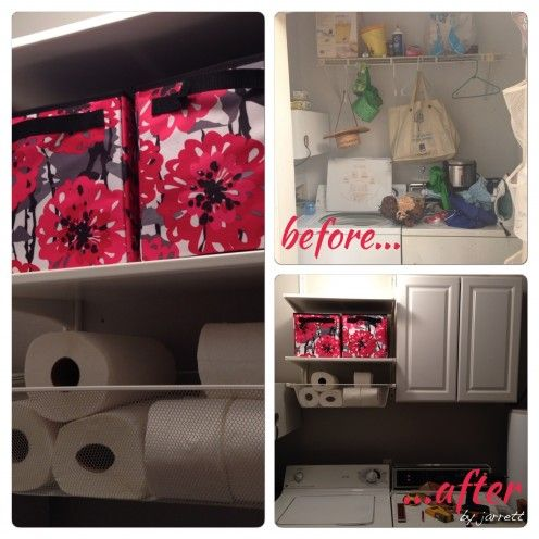 Before and After Laundry Closet Make-Over