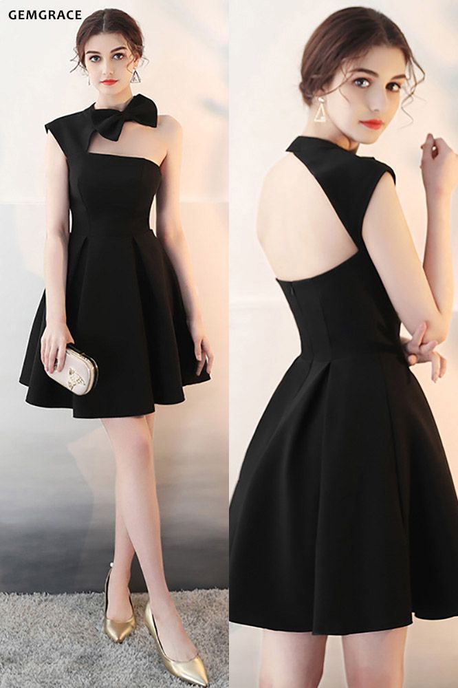 [$76.02] Fit and Flare Little Black Homecoming Dress with ...