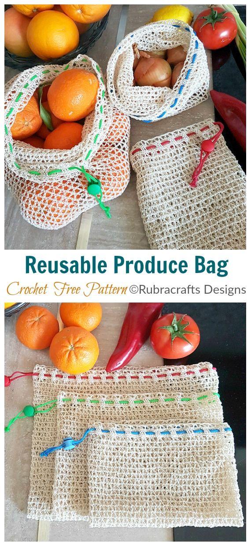 Trendy Market Bag Crochet Free Patterns • DIY How To – Stricken, Häkeln und Spinne