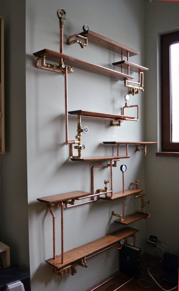 This Copper Pipe Bookshelf