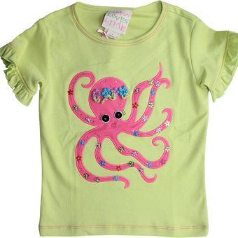 Lemon Loves Lime Blossom Octopus Tee Sizes 2T or 4T
