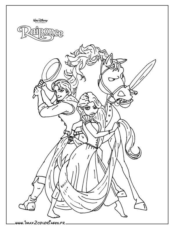 coloriages disney raiponce imprimer 2 - Dessin Disney A Imprimer 2