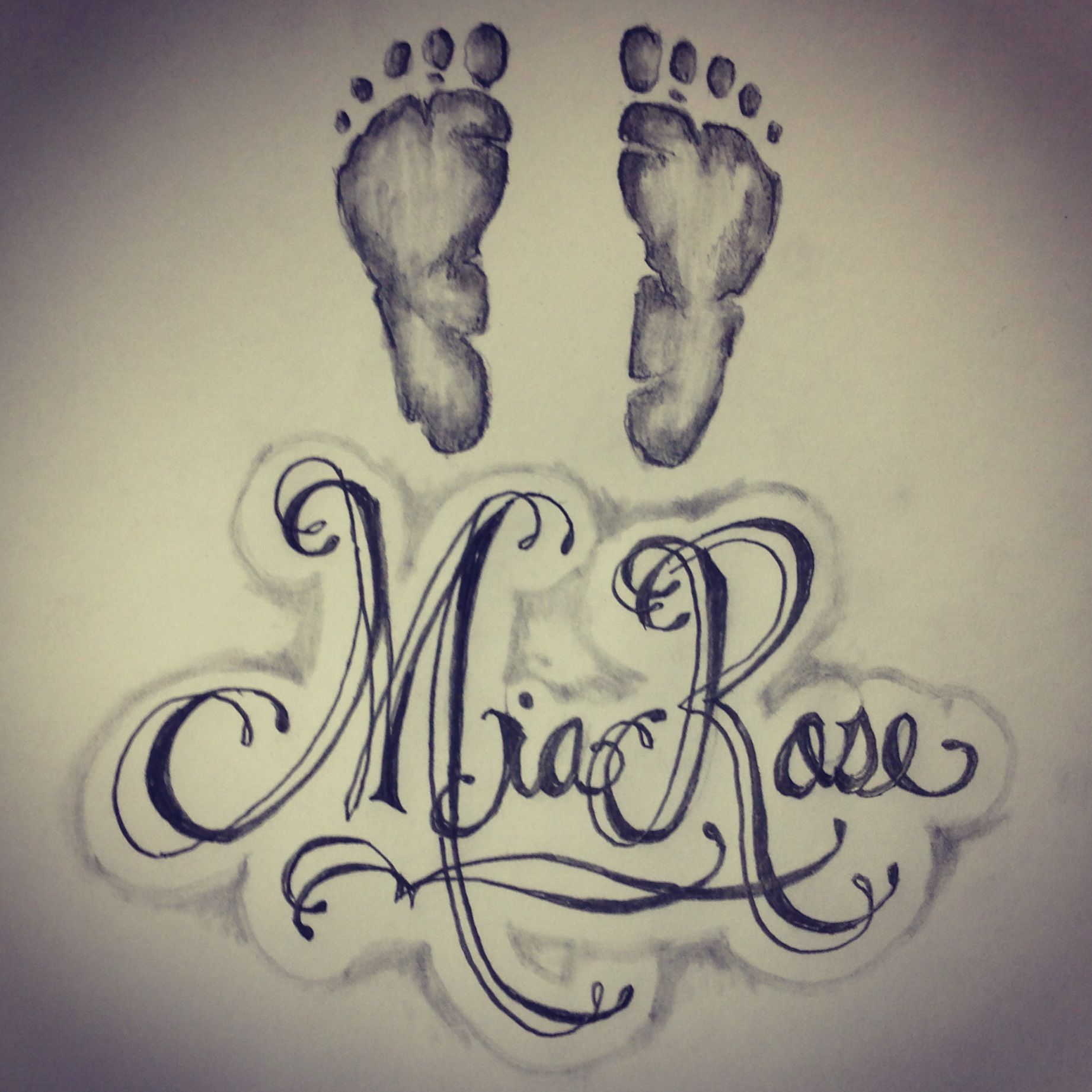 Baby Handprint Tattoo With Name: Baby Footprints / Name Tattoo…