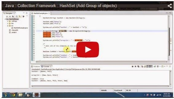 Java Ee Java Collection Framework Hashset Add Group Of