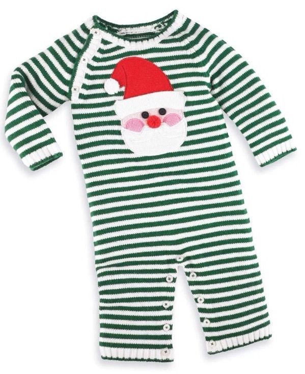 9f636f9be66f New Mud Pie Boy Knit Santa One Piece 6-9 Months  MudPie