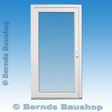 Haustür, Vollglastür weiß 106 x 200 cm DIN rechts einwärts öffnend (AV-007)