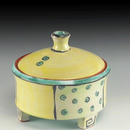 Yellow Treasure Box By Little Pig Pottery Nice Size And
