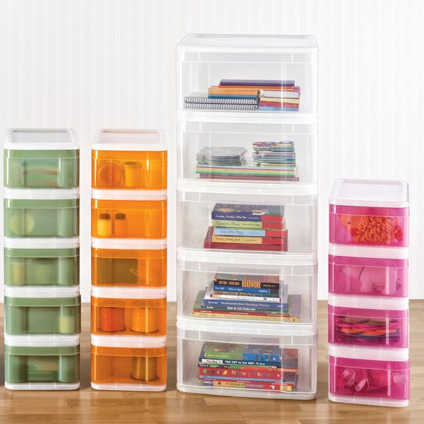 Bathroom Toy Storage Ideas: Large Tint Stacking Drawer