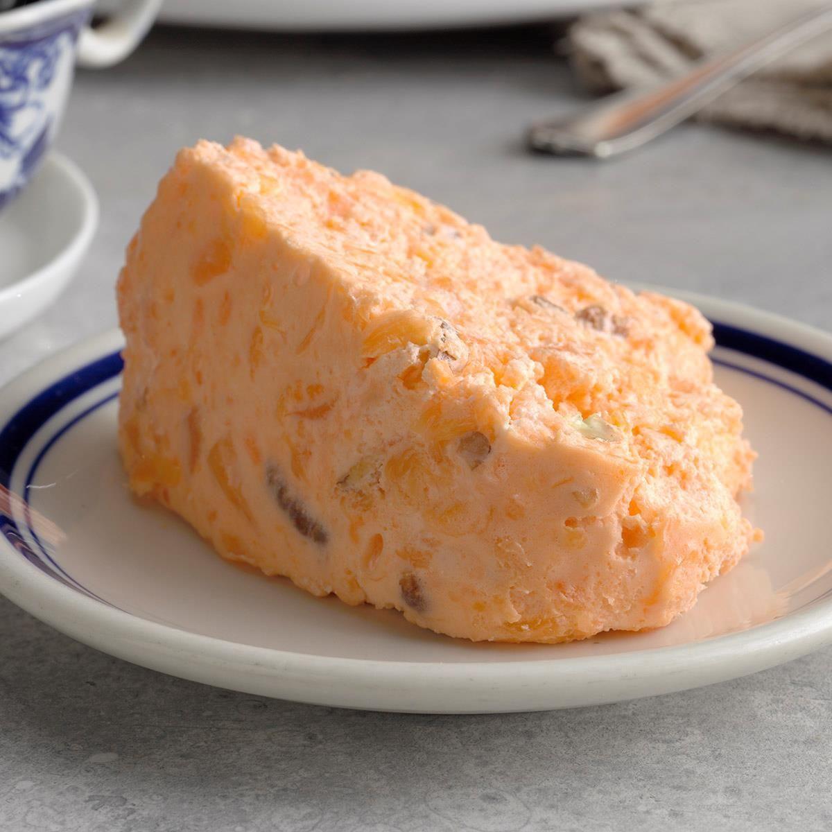 Orange Buttermilk Gelatin Salad Mold Recipe In 2020 Gelatin Salad Recipes Jello Recipes