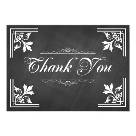 trendy chalkboard thank you cards gifts and cards for teachers