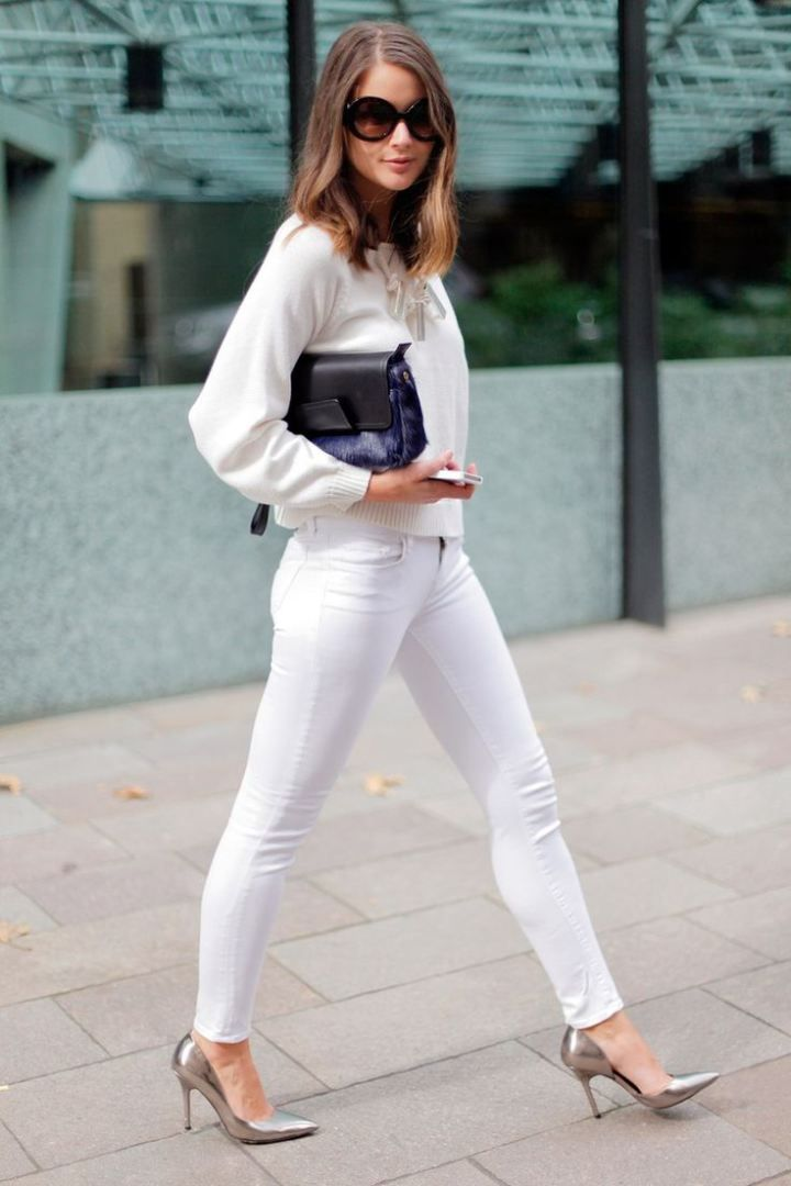 Esta es la forma correcta de utilizar jeans blancos | i24Web