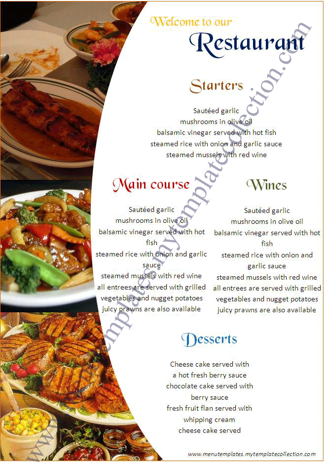 Doc740415 Microsoft Word Restaurant Menu Template Doc770477 – How to Make a Restaurant Menu on Microsoft Word