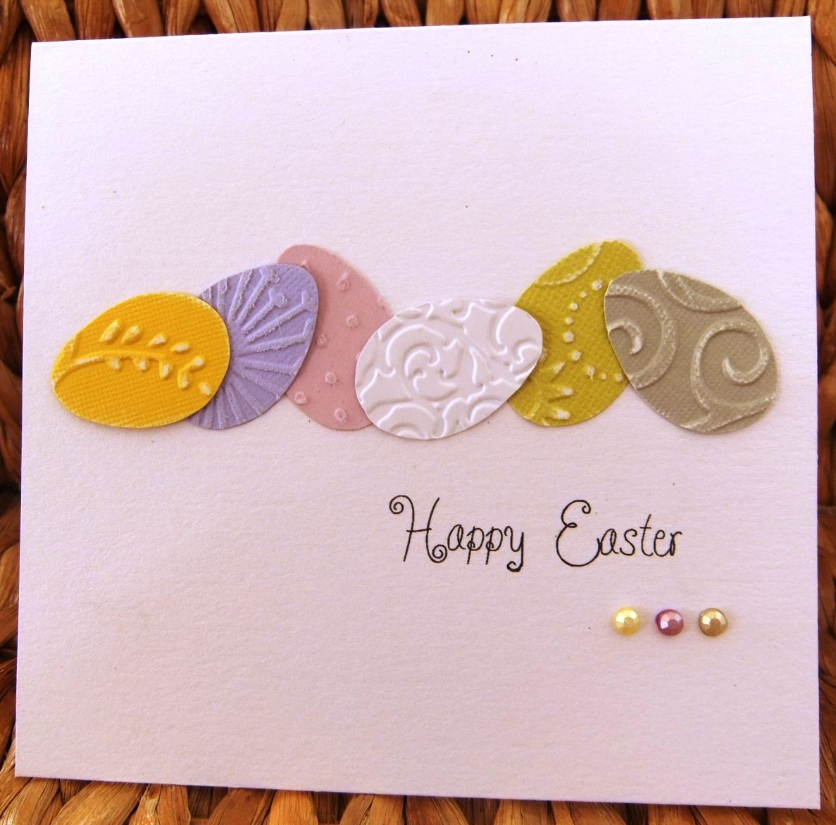 Easter Card Ideas To Make Part - 21: Handnmade Easter Card ... Clean And Simple ... Frow Of Die Cut