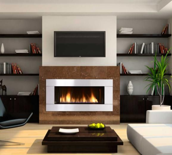 Cabinets And Fireplace Surrounds: Foyer Au Gaz - Recherche Google