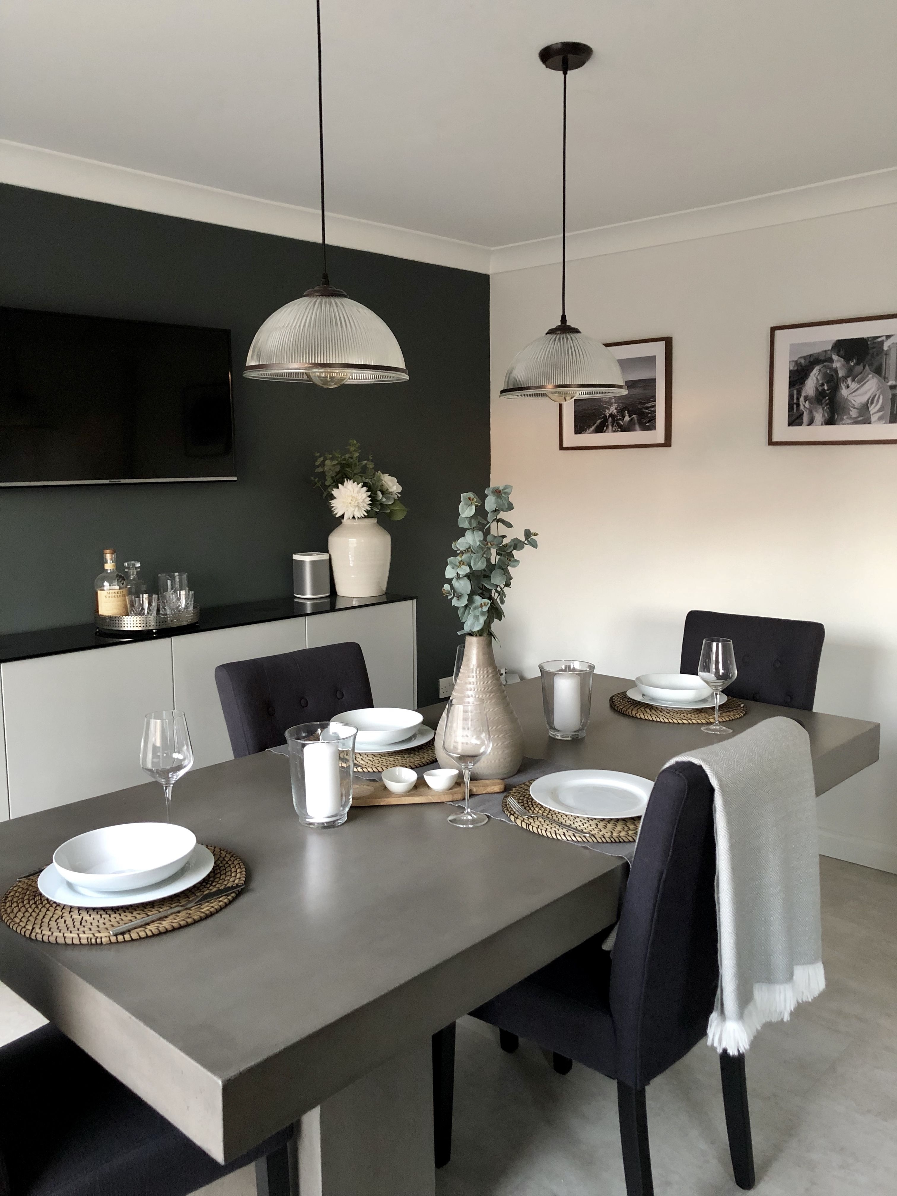 Photo of How to style concrete dining table