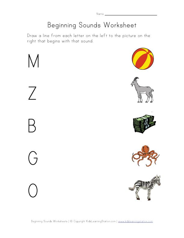 Learning consonant sounds phonics sounds 1 – Kindergarten Phonics Worksheet