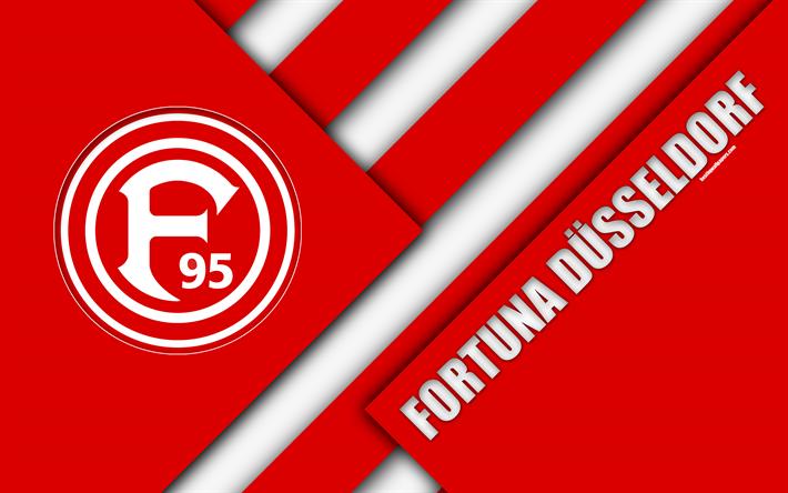 تحميل خلفيات فورتونا دوسلدورف شعار 4k الألماني لكرة القدم