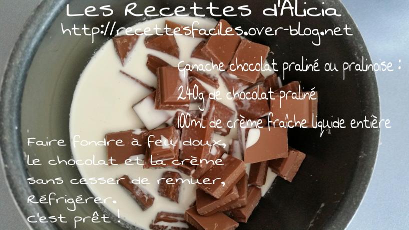 Ganache chocolat praliné