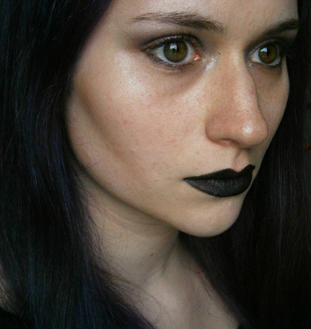 ''As above, so below, as the Universe, so the soul, as without, so within.'' - Unknown #blacklips #black #purplehair #highlighter #makeup #goth #girl #nabla #mac
