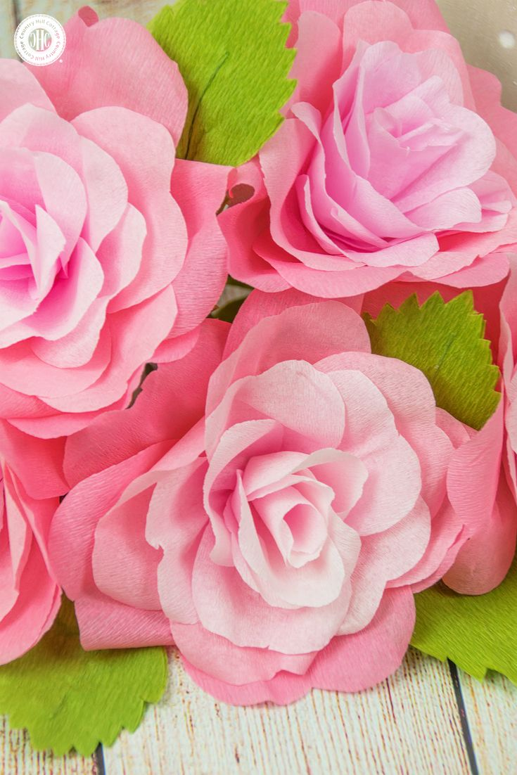 Wedding decorations using crepe paper  Crepe Paper Roses and a Free Printable Template  Crepe paper roses