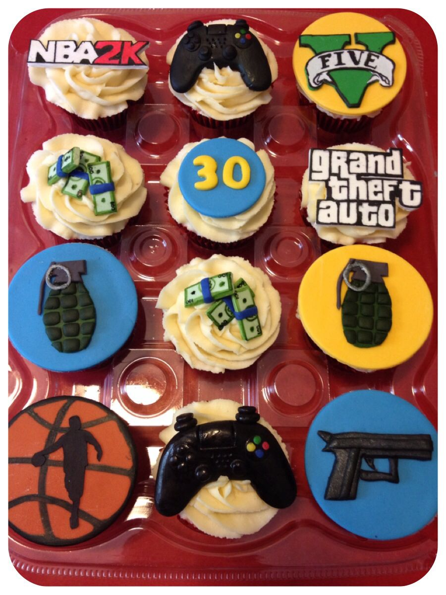 Grand Theft Auto Cupcakes With Images Birthday Cupcakes Boy