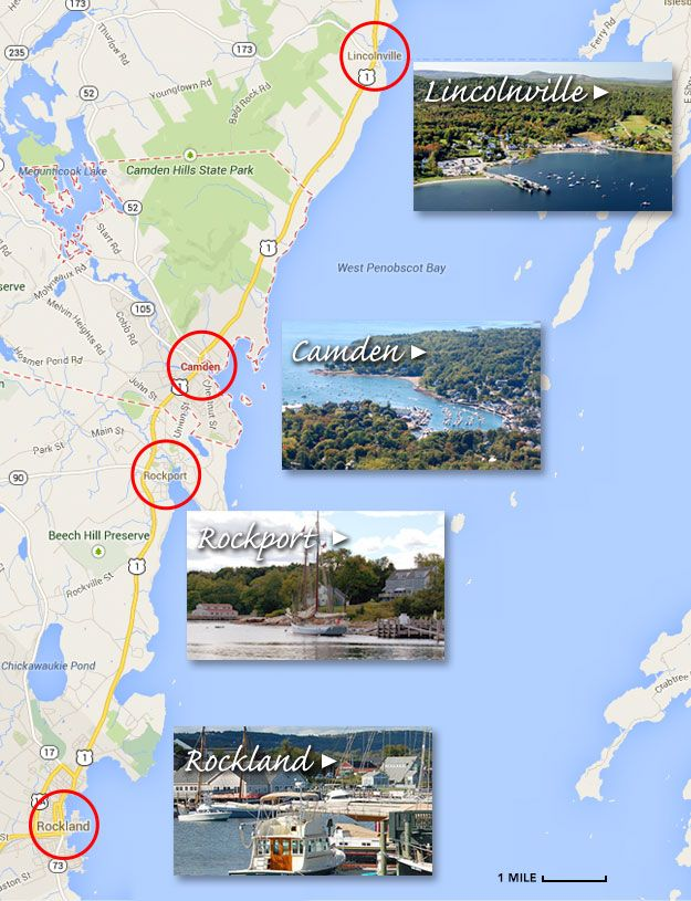 Lincolnville Maine On Us Map Camden Area Map Lincolnville Camden