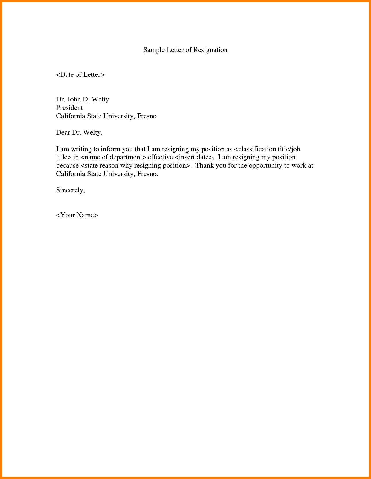 resignation letter from company resume samples job resigning format ...
