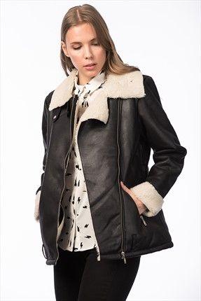 Koton Kadin Siyah Mont Kadin Siyah Mont Koton Kadin Http Www 1001stil Com Urun 5868658 Koton Kadin S Fashion Leather Jacket Jackets