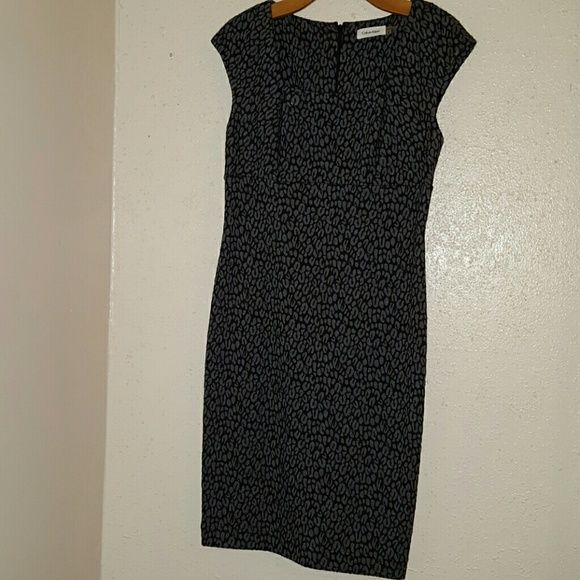 Calvin Klein knit dress Polyester Rayon Spandex like new condition Calvin Klein Dresses Midi