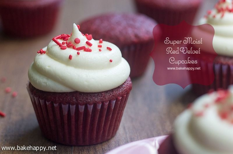 These red velvet cupcakes are super moist Paired with an absolutely