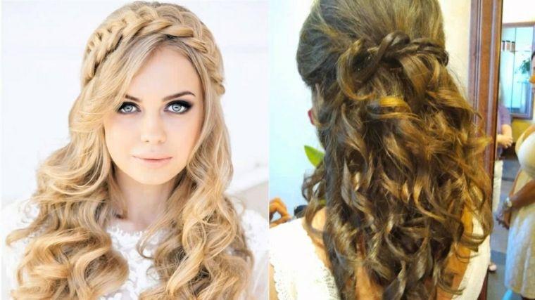 Peinados para boda - ideas para invitadas con cabello largo -
