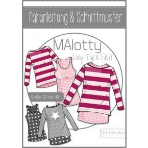 ki-ba-doo - Schnittmuster - MAlotty - Long-Top und Shirt - Damen