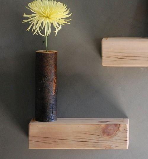 Floating Wood Block Shelves Via The Haystack Needle Floating