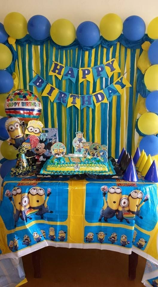 Minion Decoration Minions Birthday Theme Party Themes Year Old Also Decorations Images For Rh Br