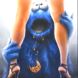 Oh cookie monster...knew you'd find something better than cookies one day el oh el.
