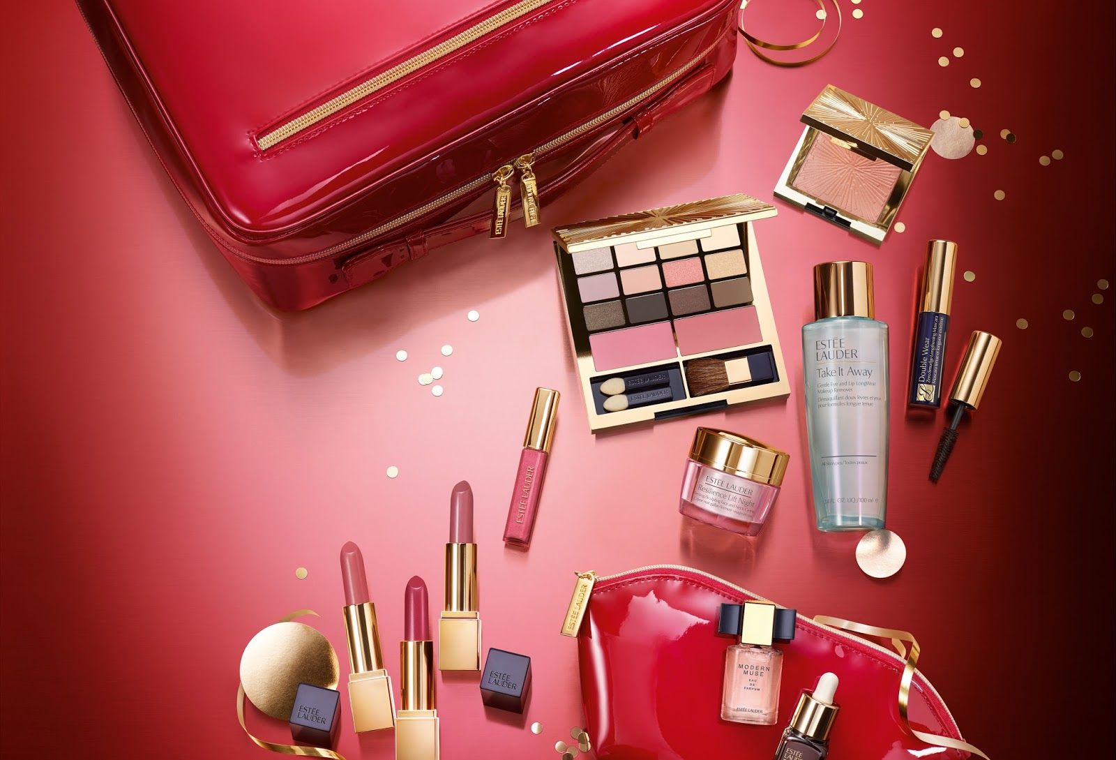 Mary Maria Style Win This Estee Lauder Holiday Blockbuster Set Wort Giveaway Esteelauder Dave Estee Lauder Gift Set Teal Nail Designs Green Nail Designs