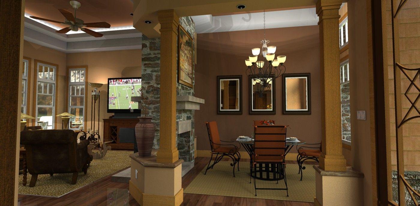 3 master bedroom house plans  Plan WG Exciting Mountain Retreat  Lanai Bonus rooms and Car