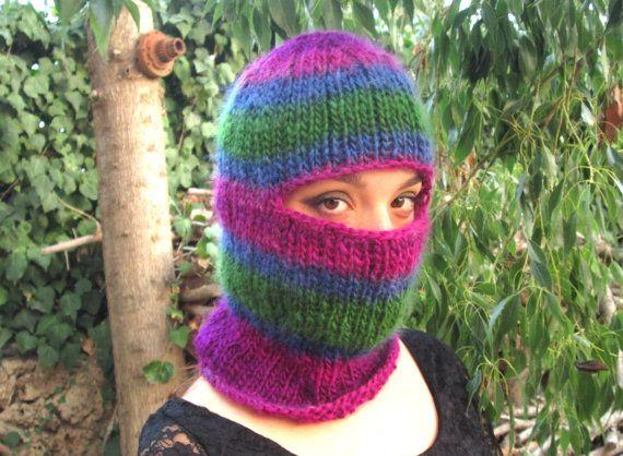 Balaclava mountain hat women balaclava cagoule wool snowboarding hat ...