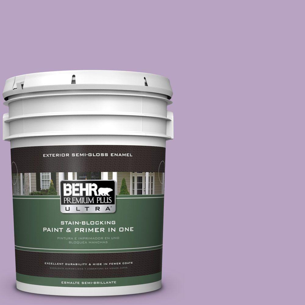 BEHR Premium Plus Ultra 5-gal. #660D-4 Lilac Rose Semi-Gloss Enamel Exterior Paint