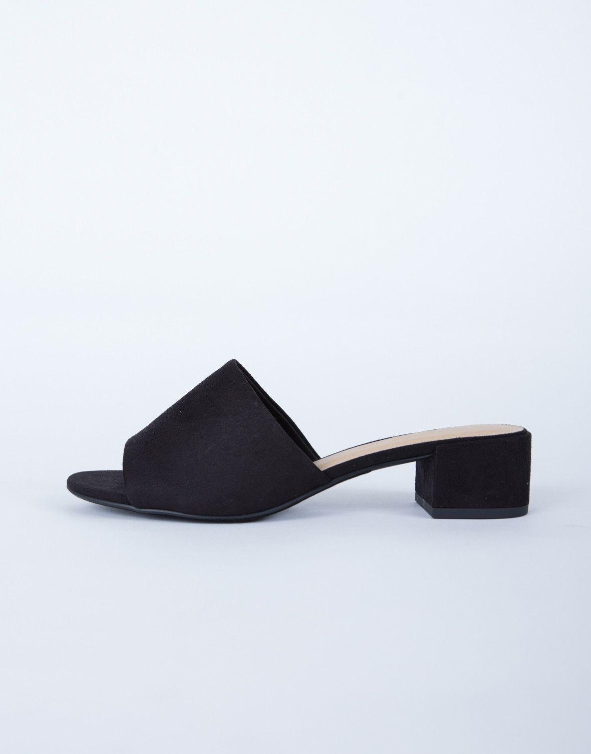 f90ad4fa780 Suede Mule Sandals