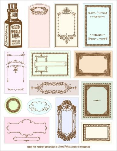 Betere mooie labels om uit te printen   Paper crafting, Etiketten gratis ZM-08