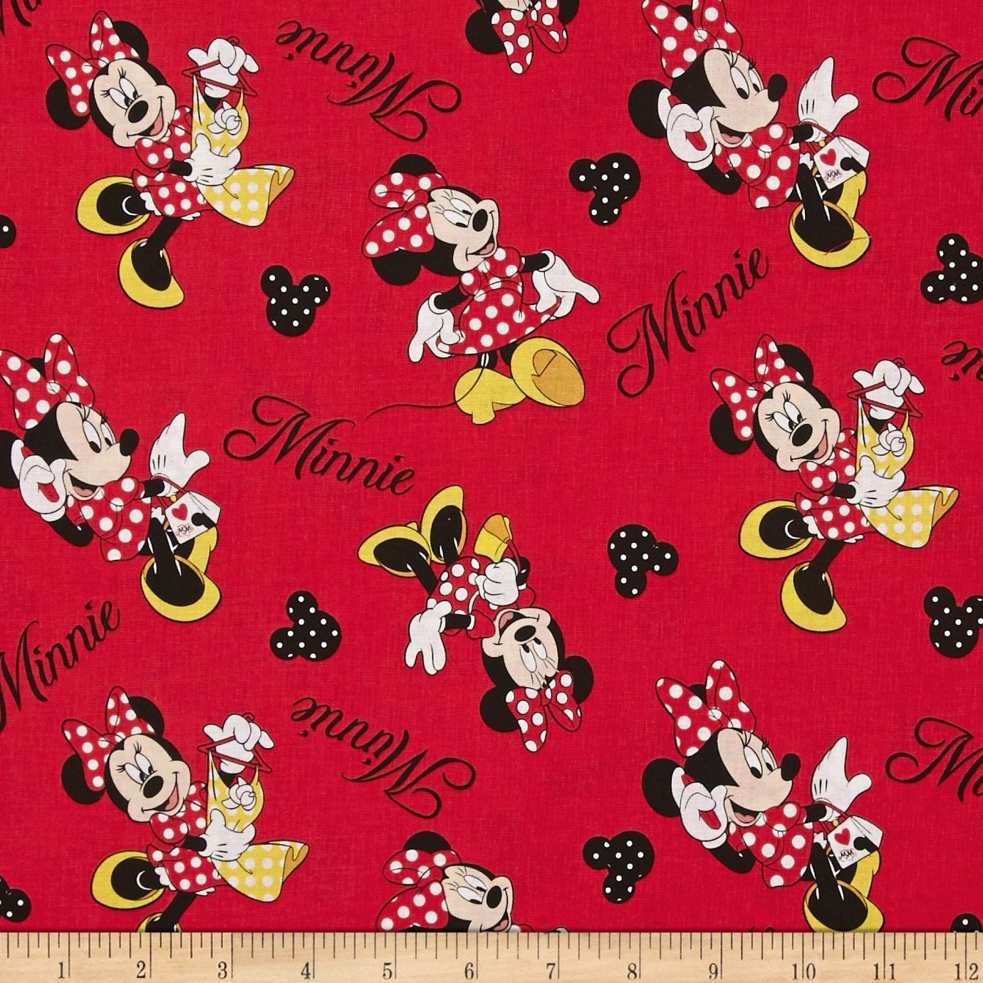 Red Minnie Mouse with Polka Dots Boppy by