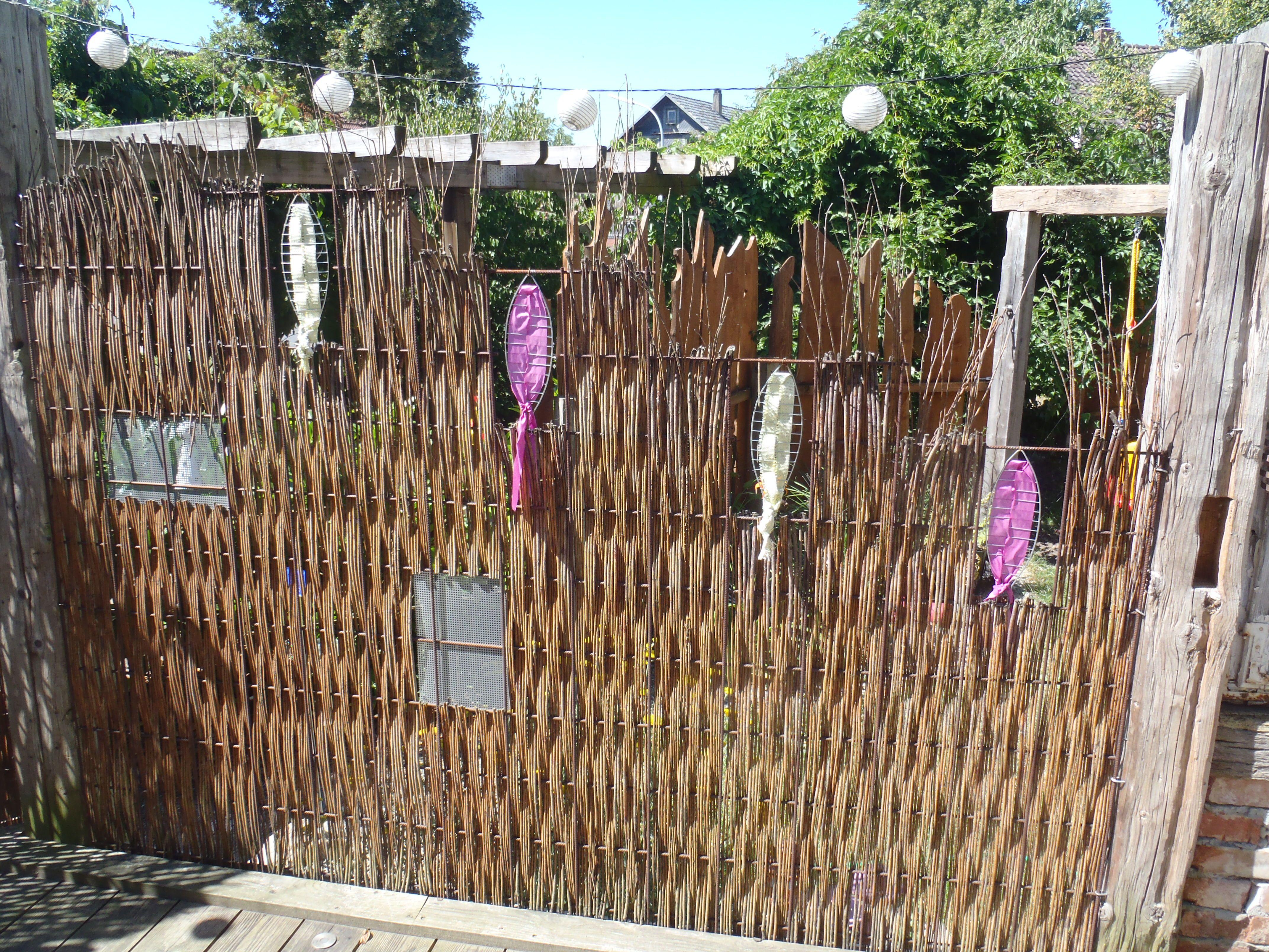 Sichtschutz Aus Baustahlmatte Und Weide | Garden Structures