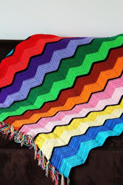 Ripple Afghan Crochet Pattern | Pinterest | Ganchillos afganos ...