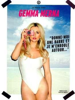 FHM magazine featured Gemma Merna in the #AmericanApparel Malibu Swimsuit, France, August 2013. #FHM #magazine #swimsuit